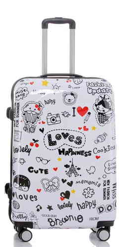 Carbon Reise Koffer Trolley - BB Happiness - Gr. XL