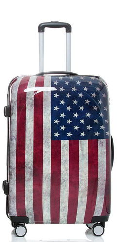 Reise Koffer Trolley - BB Stars and Stripes - Gr. XL