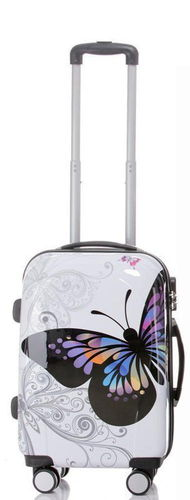 Carbon Reise Koffer Trolley - BB Butterfly - Gr. M