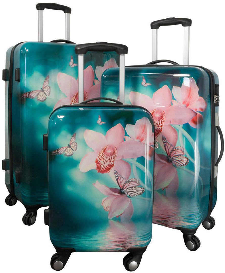 set koffer hartschale polycarbonat orchidee 4260389464787. Black Bedroom Furniture Sets. Home Design Ideas