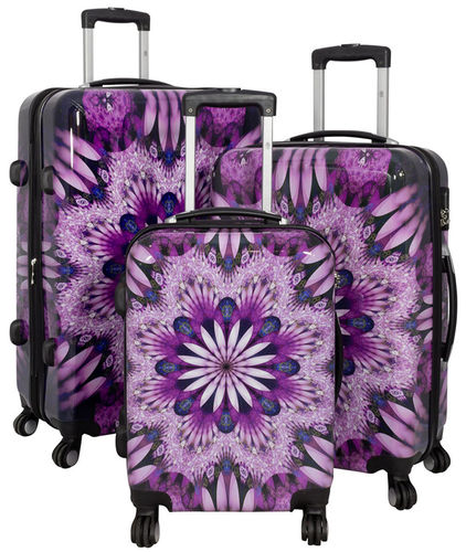 Set Koffer Hartschale Polycarbonat - Purple Flower