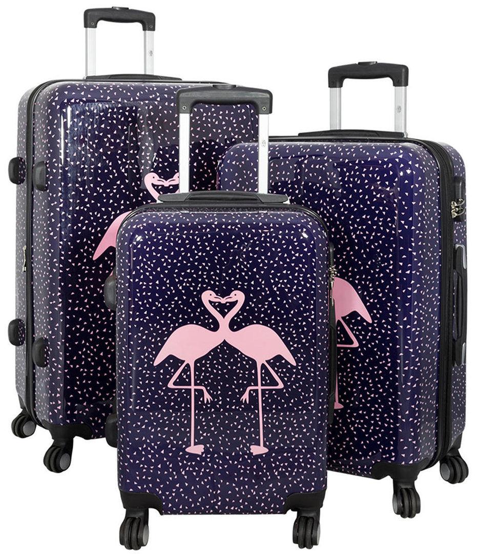 set koffer hartschale polycarbonat flamingo 4260389467511. Black Bedroom Furniture Sets. Home Design Ideas