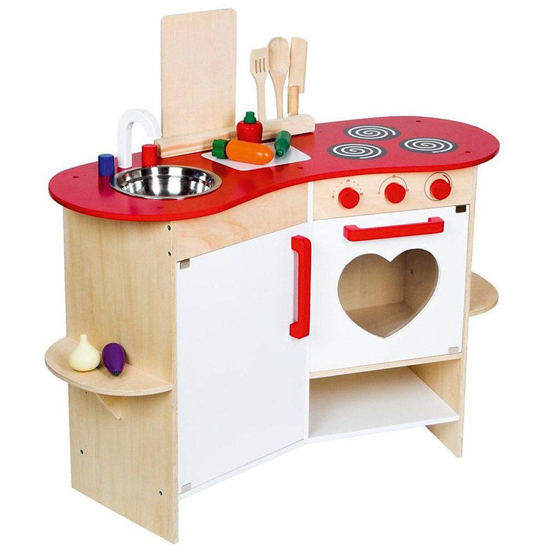 Weiße Kinder-Spielküche aus Holz - 4260389468730