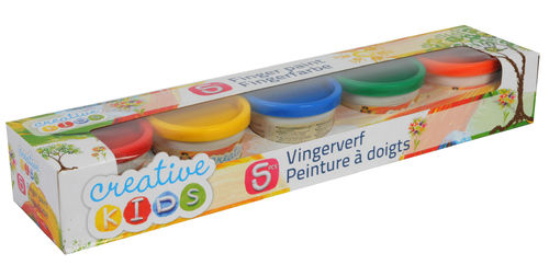 5x80ml (2,48€/100ml) Fingerfarbe für Kinder