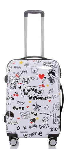 Hartschalen Reise Koffer Trolley - BB Happiness - Gr. L