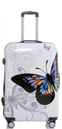 Hartschalen Reise Koffer Trolley - BB Butterfly Gr. XL