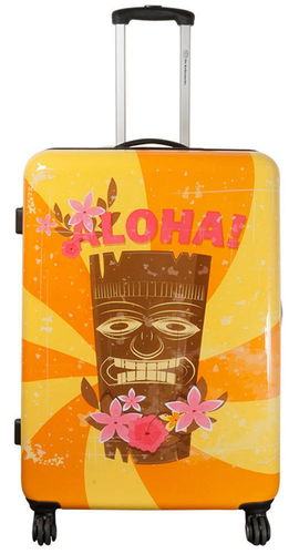 Hartschalen Reise Koffer Trolley - Tiki Hawaii - Gr. XL