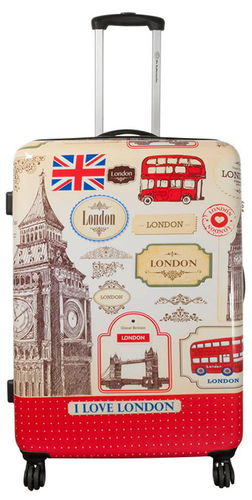 Hartschalen Reise Koffer Trolley - I Love London - Gr. XL