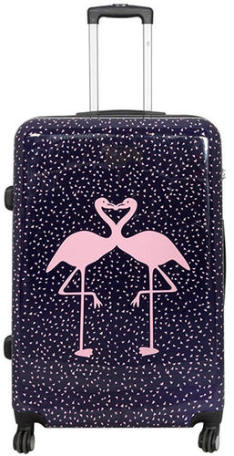 Hartschalen Reise Koffer Trolley - Flamingo - Gr. XL