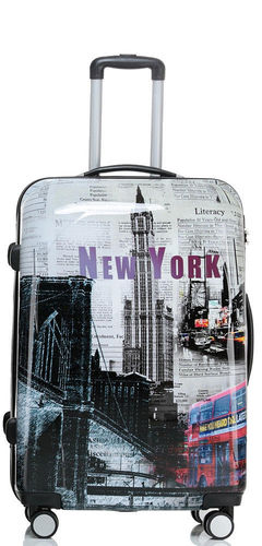 Hartschalen Reise Koffer Trolley - BB New York - Gr. XL