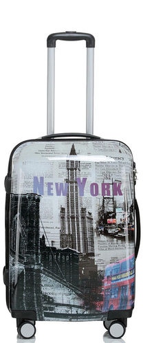 Hartschalen Reise Koffer Trolley - BB New York - Gr. L