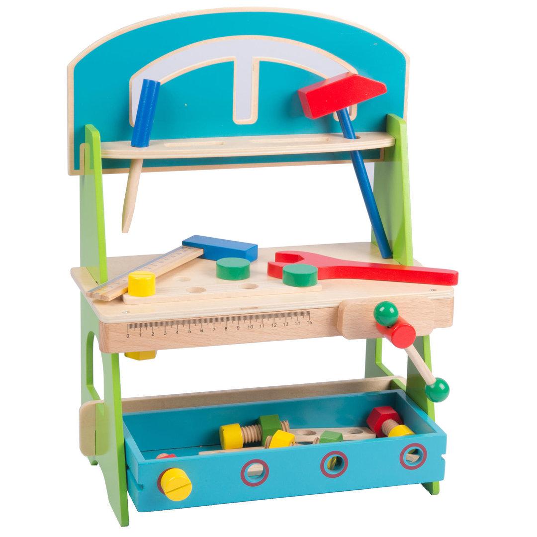 Kleine Spielzeug Werkbank Aus Holz Mit Werkzeug 4260389468709